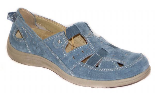 Long Beach moroccan blue Suede leather